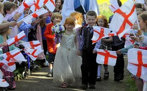 British pupils hold mock wedding ceremony