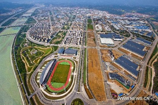 Bird's eye-view of post-quake reconstruction projects in SW China