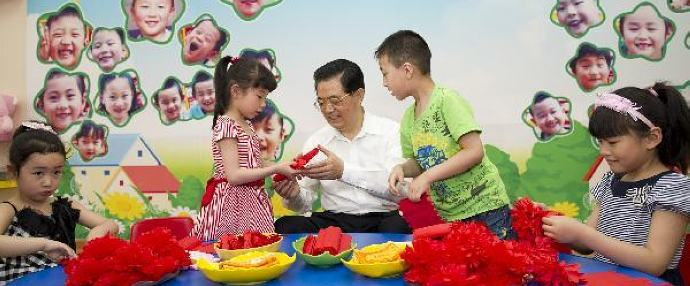 Chinese president extends greetings to children