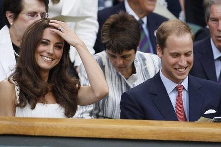 Royals William and Kate visit Wimbledon