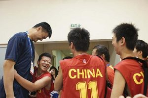 Yao Ming shows support for Special Olympics