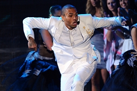 Chris Brown at the 2011 MTV VMAs
