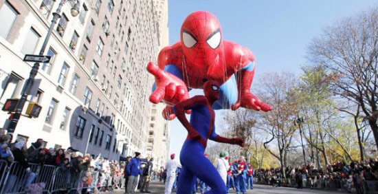85th Macy's Thanksgiving day parade in NYC