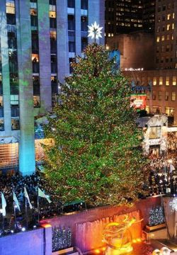 Giant Christmas tree in New York