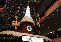 Indoor Christmas tree in HK