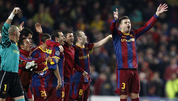 Barcelona wins the UEFA Champions League