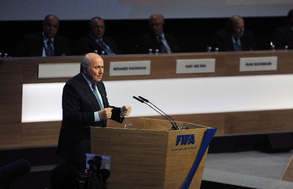 Sepp Blatter re-elected as FIFA president