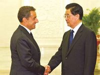 French President Sarkozy visits China