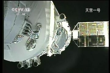 China declares first space docking successful