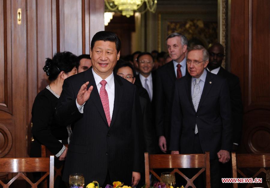 Chinese VP Xi meets U.S. Senate Majority Leader Reid