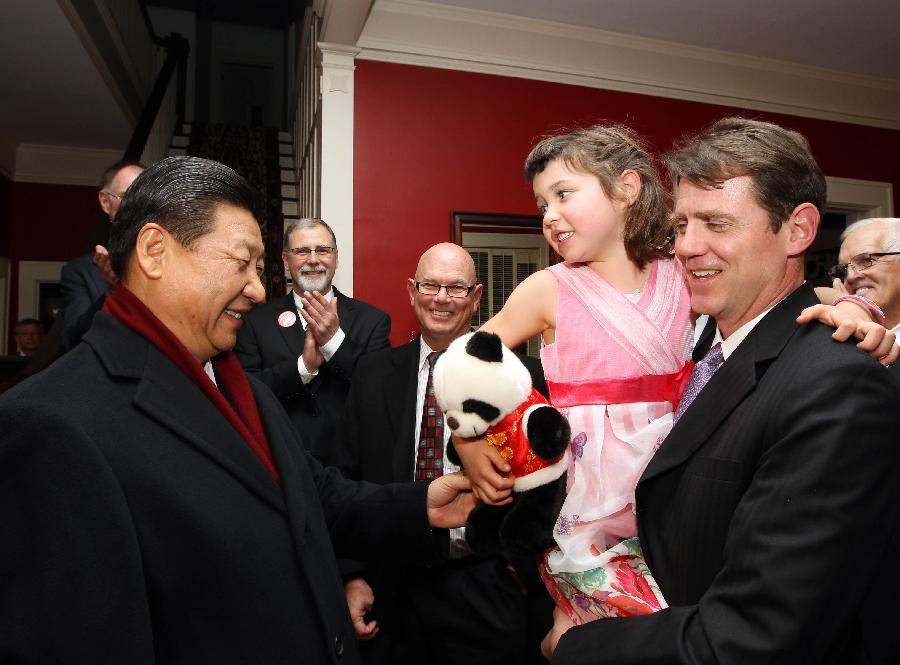Chinese VP meets with old friends in U.S.
