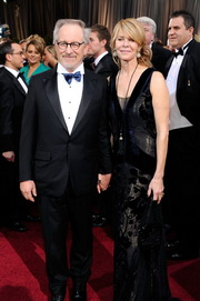 Steven Spielberg and wife