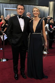 Jean Dujardin and wife