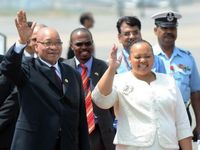 S. African president in New Delhi for BRICS summit