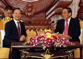 Wen visits Laos, attends GMS Summit