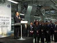 Chinese Premier visits Volvo headquarters in Sweden