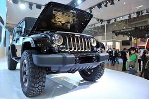 Jeep Wrangler shown in 'Dragon design'