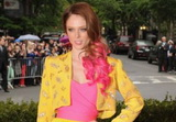 Coco Rocha: Pink hair! and vintage Givenchy!