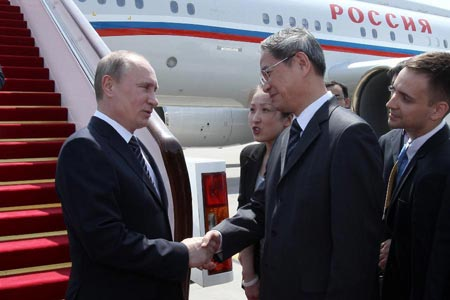Putin arrives in Beijing for state visit, SCO summit