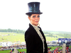 British-born actress Mischa Barton showed her home country pride at the Epsom Derby.