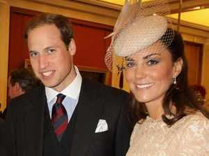 Prince William and Duchess of Cambridge attend a reception at Guildhall to celebrate the Jubilee.