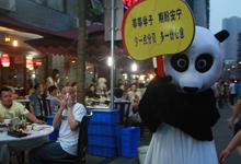Panda says shhh