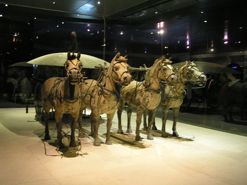 Qin dynasty bronze chariot and horses