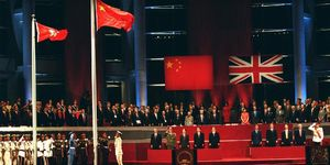 1997: The handover of sovereignty of Hong Kong