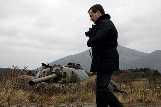 Medvedev pays visit to Kurils
