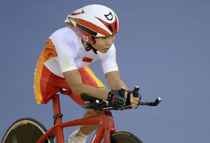 Chinese two cycling medalists