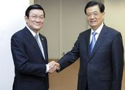 Chinese, Vietnamese presidents meet on ties