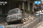 Rocks from landslides crushed cars