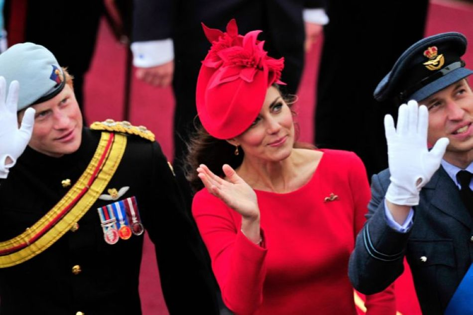 Prince William,Princess Kate and Prince Harry seen during Queen's jubilee celebrations