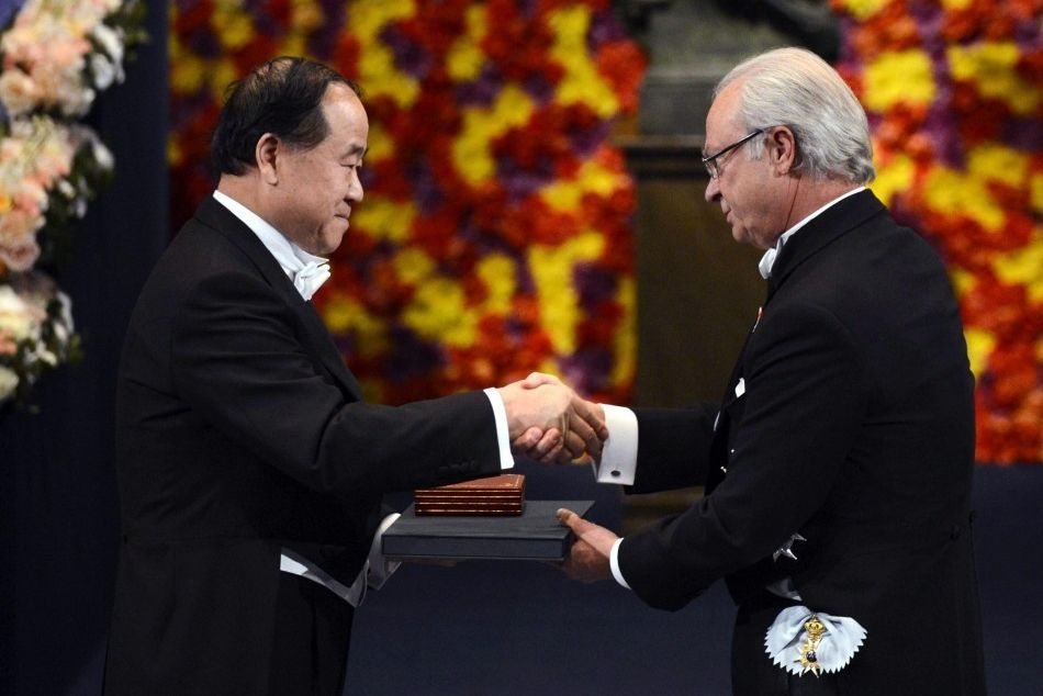 Mo Yan honored at Nobel ceremony