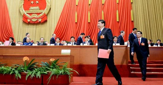 1st session of 12th NPC holds 5th plenary meeting