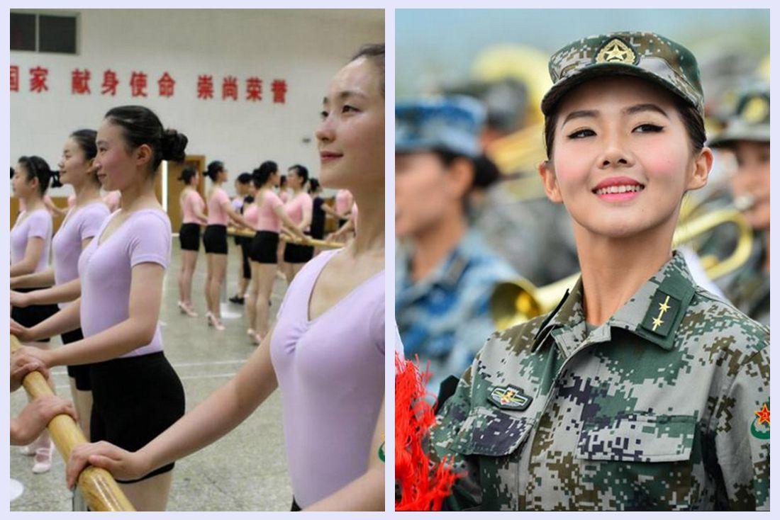 PLA military band, parade, V-Day