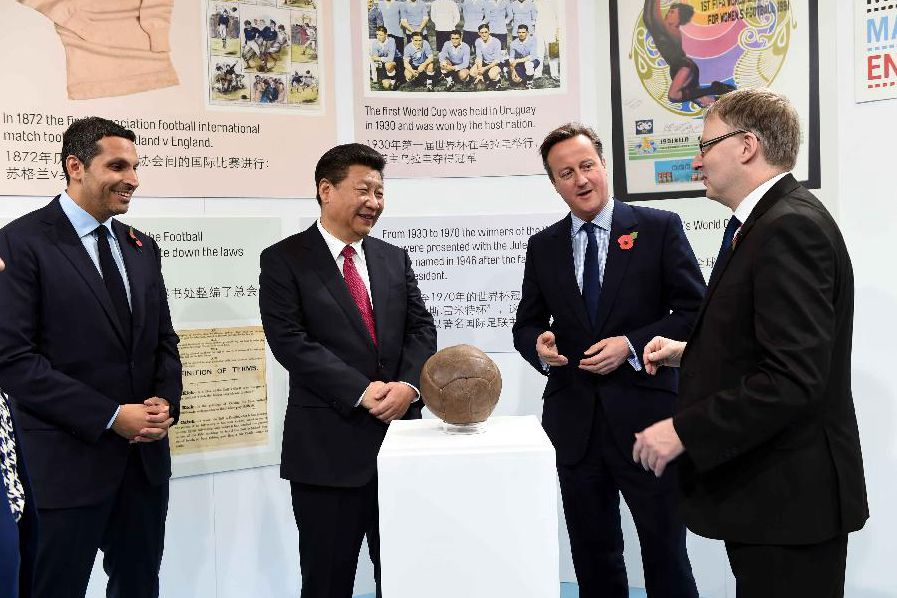 Football fan Xi calls for more sports cooperation between China, Britain
