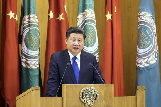 Chinese president offers remedies for Mideast predicaments, aid to Arab development